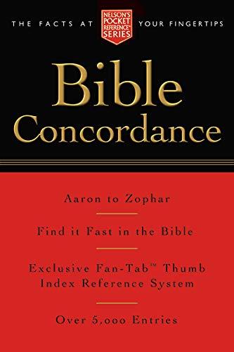 Pocket Bible Concordance: Nelson