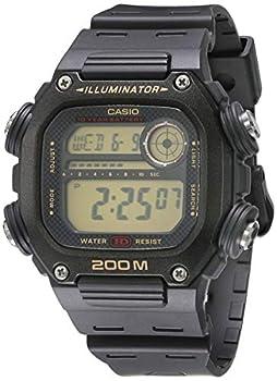 Casio 10 Year Battery Quartz Watch with Resin Strap Black 27.2  Model  DW-291H-9AVCF