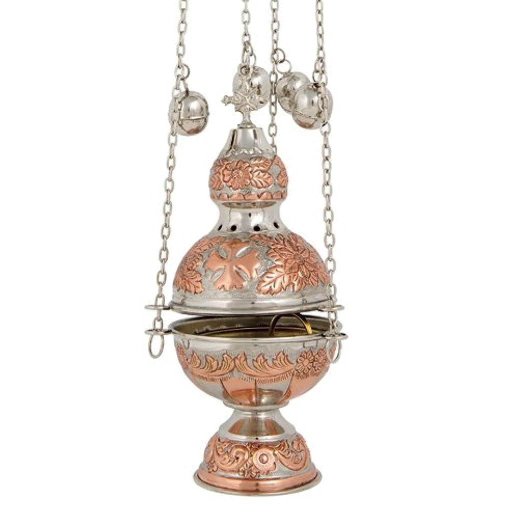 放棄樹皮実施する銅ニッケルメッキ真鍮Christian教会Thurible香炉香炉( 372?CN )