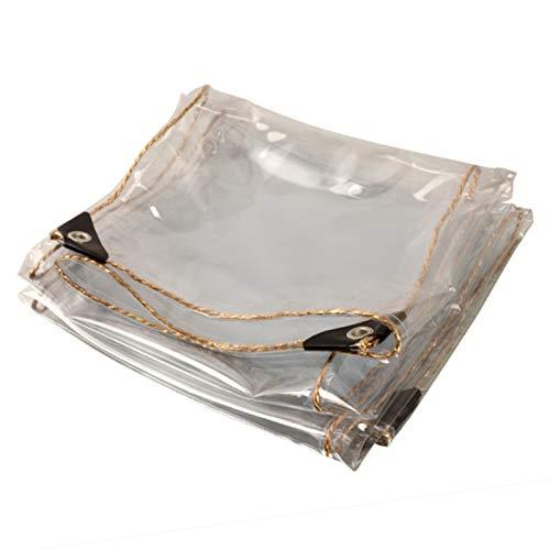 GYYARSX Lonas Transparente Lona Alquitranada Lona Hidratante para Plantas De 0,35mm De Espesor con 4 Esquinas De Plástico Y Ojal De Metal, 35 Tamaños (Color : Clear, Size : 5.0X6.0M)