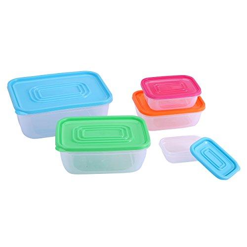 Renberg Rainbow - Lunch-Boxen Kunststoff mit Deckel 11x8x3.5cm, 0.17l / 14x10x4.8cm, 0.43l / 17x12.5x6.2cm, 0.83l / 20x15x8cm, 1.50l / 23.5x17.5x9.5cm, 2.50l