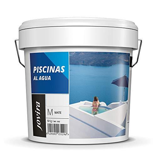 PINTURA PISCINAS AL AGUA, Protección y decoración de piscinas. (5 kg, BLANCO)
