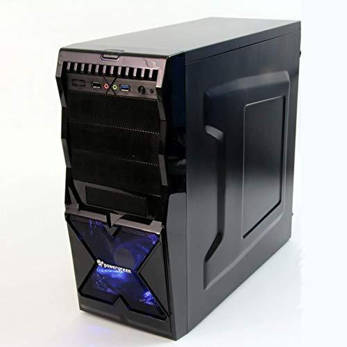 Powergreen CAJ-00901-GAM gamingbehuizing om te openen, mat zwart