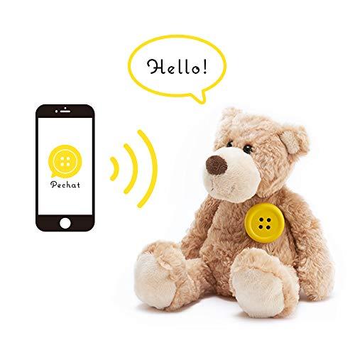 Pechat(ペチャット) イエロー ぬいぐるみをおしゃべりにするボタン型スピーカー【英語にも対応】