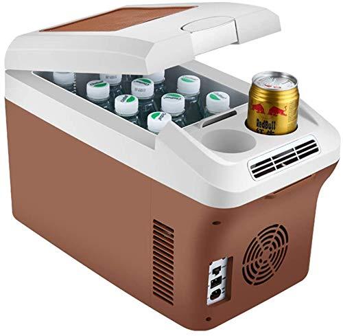 Refrigerador de automóviles, refrigerador eléctrico 15L Mini refrigerador portátil Multifuncional Camping al aire libre compacto 12V / 24V / 230V para coches Camión Hogar para caliente/frío