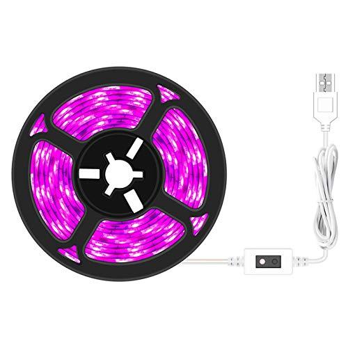Tiras de luz LED para cultivar plantas, regulables, USB, impermeables, para plantas de interior, hidroponía, invernadero, jardinería