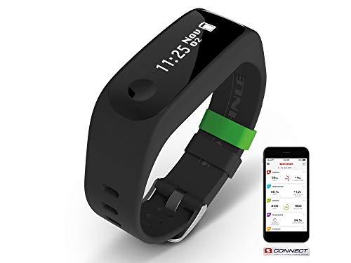 Soehnle Fitnesstracker Fit Connect mit Bluetooth-Anbindung, Fitnessarmband mit bis zu 10 Tagen Laufzeit zählt Schritte und Kalorienverbrauch, Fitness Armbanduhr mit Schlafanalyse