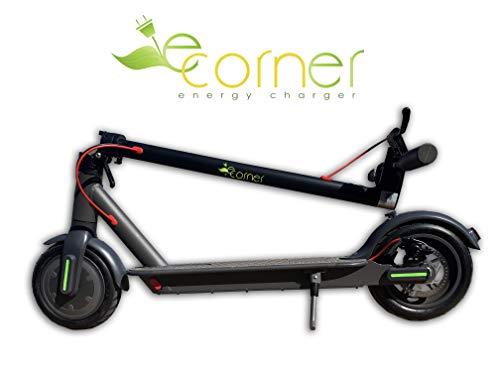 E-Corner Patinete eléctrico, velocidad de hasta 25 km/h, 25 km de autonomía, KERS y frenos de disco.