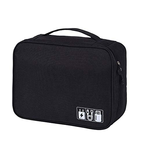 Electronics Accessories Organizer Bag,Travel Cable Organiser Bag,Universal Carry Travel Gadget Bag For USB Cable Drive,SD Card And Charger Hard Disk,Zipper Waterproof Storage Pouch