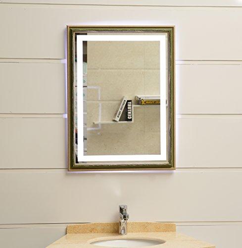 Miroir mural design à éclairage LED GS099N - Avec cadre - IP44 - 80 x 60 cm - K4