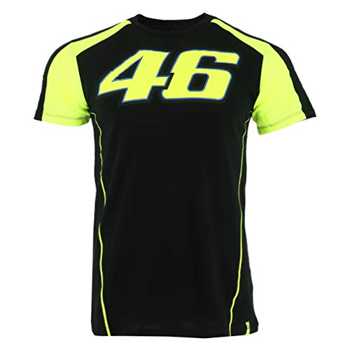 Valentino Rossi Vrmts306004006 T-Shirt für Herren, Schwarz, XXL 124 cm / 49In Chest