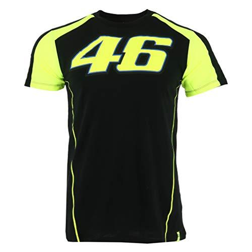 Valentino Rossi VRMTS306004003, T-Shirt, VR46 Uomo, Black,Nero, Small 98cm/39in Chest