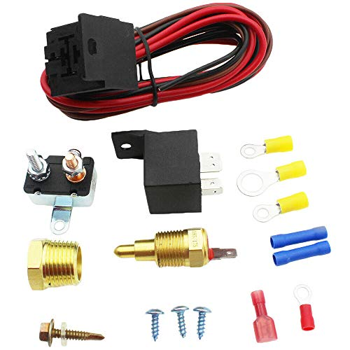 BEST 185 Degree On 175 Off Engine Fan Thermostat 396 400 Switch 40A Relay SUITS
