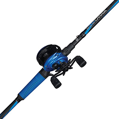 Abu Garcia Blue Max Low Profile Baitcast Reel and Fishing Rod Combo