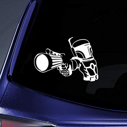 Bargain Max Decals - Boba Fett Bounty Hunter Design Sticker Decal Notebook Car Laptop 8' (White)