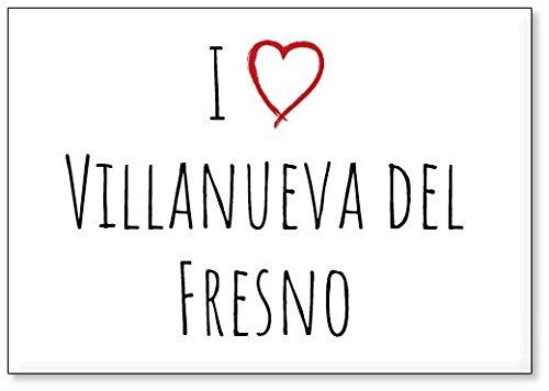 Mundus Souvenirs - Amo Villanueva del Fresno, Imán para Nevera (diseño 1)