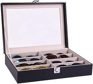 منظم و صندوق النظارات ، من مواد متعددة - لون اسود