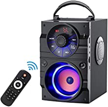 EIFER Bluetooth Speakers Portable Bluetooth Speaker 1 Subwoofer and 2 Loudspeakers Wireless BT Speaker Bocinas Dynamic Sound Remote Control FM Radio U-Disk/TF Card/AUX Input Player Party Outdoor A9