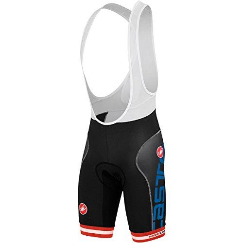 Castelli–Mallas Bret. Free Aero Race, color Varios colores - negro y azul, tamaño small