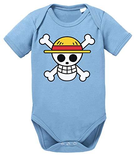 Tee Kiki Logo One Straw Hat Baby Body de algodón orgánico Piece Proverbs Romper para niños y...