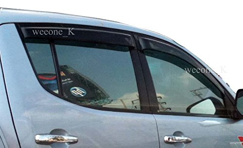 K1AutoParts Door Weather Guard Rain Visor Sun Windshield For Mitsubishi L200 Triton Pickup 2005-2013