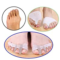 4Pcs Silicone Gel Foot Fingers Toe Separator Thumb Valgus Protector Bunion Adjuster Hallux Valgus Guard Feet Care Massage Z32801-