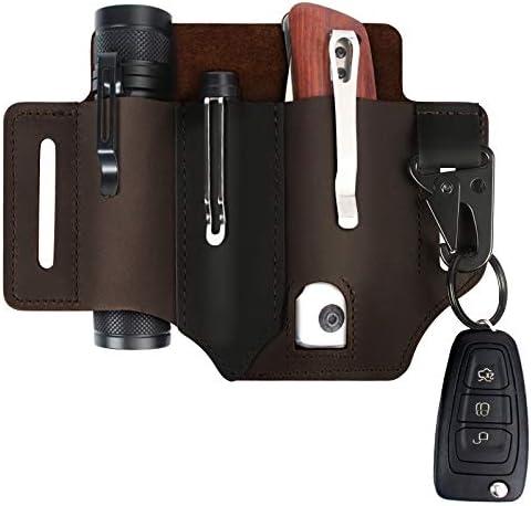 Multitool Sheath for Belt Leatherman Sheath for Men Leather EDC Pocket Organizer with Pen Holder product image