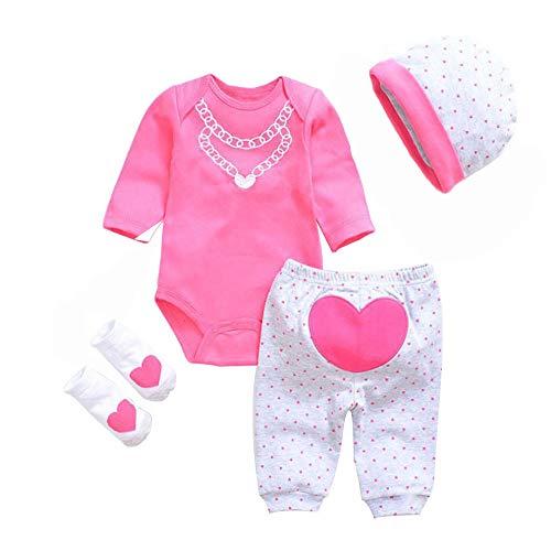LLX Mode Neugeborenes Baby Kleidung Reborn Baby Mädchen Puppe Kleidung Für 20-22 Zoll 50-55 Cm Puppe Geschenke,T