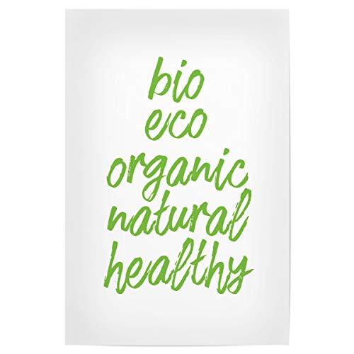 artboxONE Poster 30x20 cm Typografie Bio Green hochwertiger Design Kunstdruck - Bild Green eco ernährung