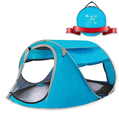 CHD Tienda de Campaña para Picnic en la Playa Portátil Instantánea Automática Emergente 2-3Personas Resistente al Agua Protección UV Refugio Solar Bolsa de Transporte Incluida,Natural