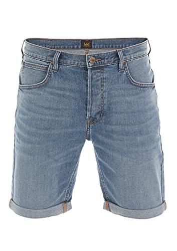 Lee Herren Jeans Short Regular Fit Kurze Stretch Shorts Baumwolle Bermuda Sommer Hose Blau w38, Größe:W 38, Farbe:Light (L73ESGWZ)