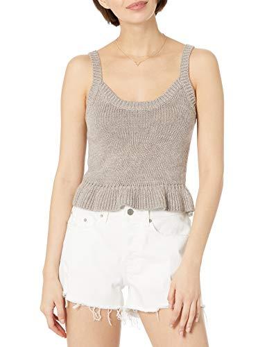 The Drop Women's Ameena Ruffle Cropped Sweater Tank