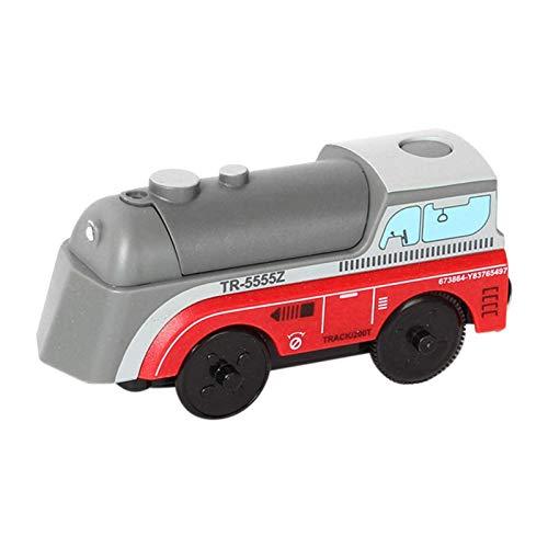 Feuermotor spielzeug Holzbahn elektrische Zug Kompatibel für Brio Holzspur pädagogisch auseinander nehmen Spielzeug, Feuerwehrspielzeug Auto Spielzeug Geschenk für 3 4 5 6 Jahre alte Jungen, Kinder, M