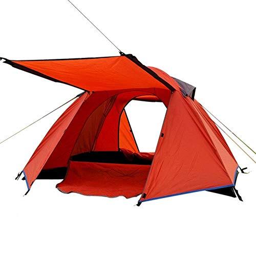 Carpa tipo cúpula, 2 personas, ultraligero, impermeable, protector solar, a prueba de agua, adecuado para acampar al aire libre Parque de la playa Campo de césped Senderismo Turismo, Naranja + Verde V