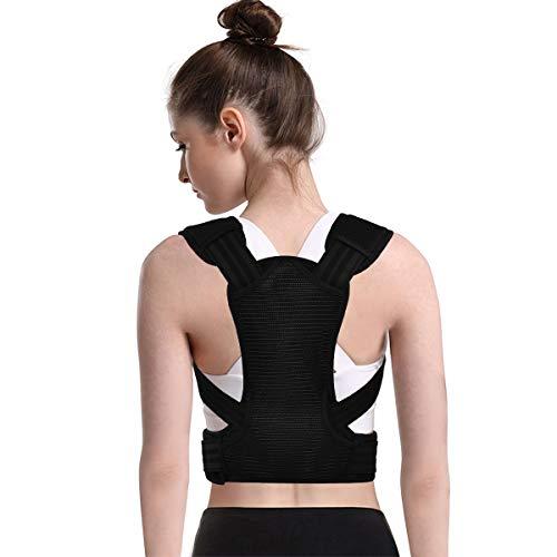 Ikfashoni Haltungskorrektur Rücken für Damen & Herren Rückenstütze Verstellbarer Geradehalter Haltungstrainer Schlüsselbeinstütze für Nacken, Rücken, Schulterschmerzen und haltungsbedingte