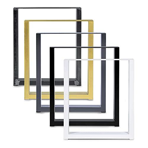 Magnetic Mobel Set de 2 Table Châssis Design Industriel Plateau pour Table rétro métal Acier Table à Manger (Transparent 90x72)