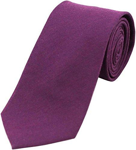 David Van Hagen Violet Laine plaine cravate Rich de
