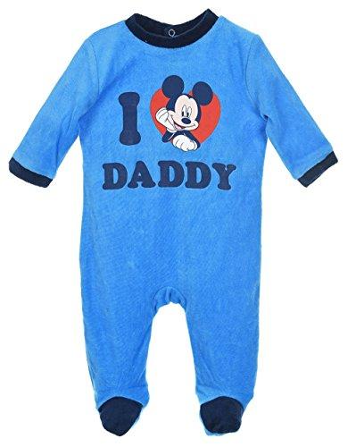 Pyjama bébé Mickey 'I love Daddy' Bleu et Gris de 3 à 23mois (23 mois, Bleu/marine)