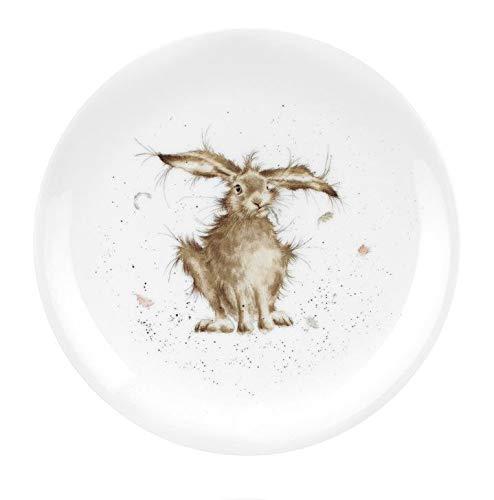 Royal Worcester Wrendale Individuelle 20 cm Desert Coupe Teller in 4 Designs – Hase, Eichhörnchen Maus und Ente (weißer guter Hasentag)