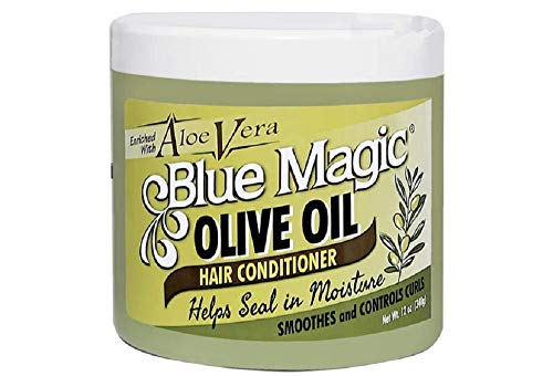 Blue Magic Olive Oil Hair Conditioner with Aloe Vera 12 ounce jar (340gm)