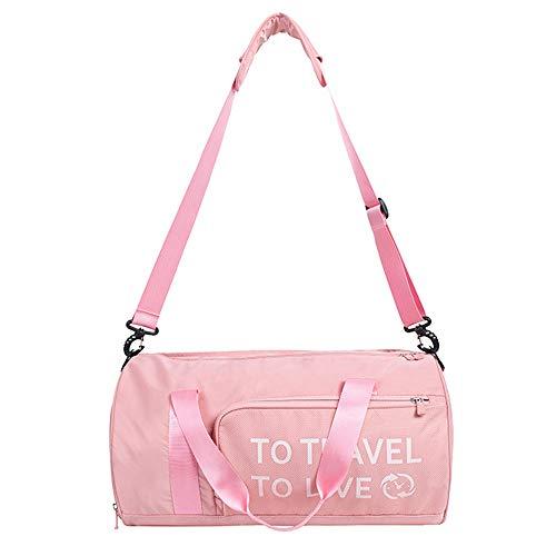 BlueCosto (Rosa Bolsa de Deporte Gimnasio Impermeable para Mujer Niña Señoras Duffels