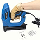 Electric Nail Gun, 100 Nails High Strength Electric Nailer 20pcs/min Hand Operated Nailing Tool, Ergonomic, Lightweight & No Need of Air Pump for Roofing, Making Furniture, Flooring, Woodworking
