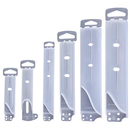 Doitool 6 Piezas Funda de Cuchillo Cubierta de Cuchillo de Plástico Protector de Borde de Cuchillo de Chef Protector de Cuchillas Mantiene La Cubierta Afilada
