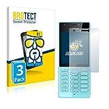 BROTECT Panzerglas Schutzfolie kompatibel mit Nokia 216 (3 Stück) - 9H Extrem Kratzfest, Anti-Fingerprint, Ultra-Transparent