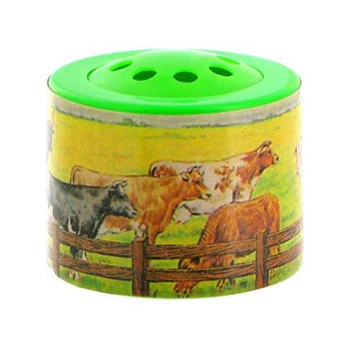 Lutèce Créations Petite boîte à meuh / boîte à Vache / boîte à Son électronique en matière Plastique pour écouter Le meuglement d'une Vache (Réf: Vache) - Piles comprises.