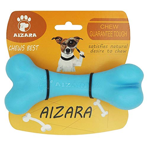AIZARA Dog Chew Toys for Aggressive Chewers, Lifetime Replacement Guarantee - Tough Indestructible Dog Toys for Large Dogs, Durable Nylon Puppy Bone Toys for Training Keeping Pets Fit