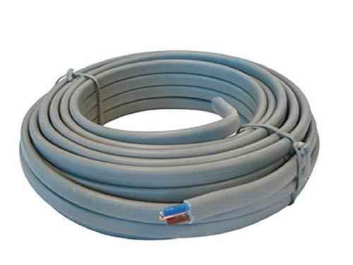 2.5mm 6242Y Twin & Earth elektrische kabel, 20 meter/2000 cm lengte, gebruikt voor huishoudelijke bedrading, stopcontacten, enz. Hoogwaardige elektrische draad conform alle Britse veiligheidsnormen