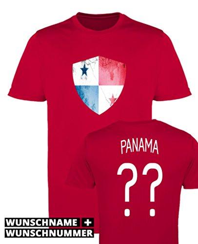 Comedy Shirts - Panama Trikot - Wappen: Groß - Wunsch - Damen Trikot - Rot/Weiss Gr. XXL