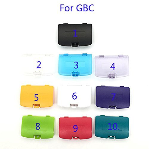 Battery Back Door Cover Pack Shell Replacement for Gameboy Color GBC Cover (3 Clear Blue)