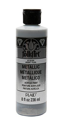 FolkArt 8 oz Acrylic Paint, Silver Metallic